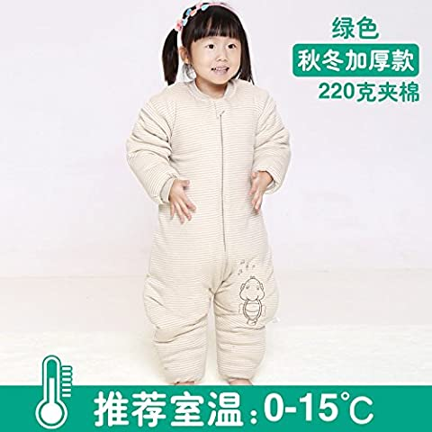 Calcio alla gamba di bambino sacco a pelo bambino sacco a pelo bambino cotone imbottito è l'applicazione di prova di