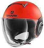Shark Casque moto NANO STREET NEON MAT OKK, Orange, M