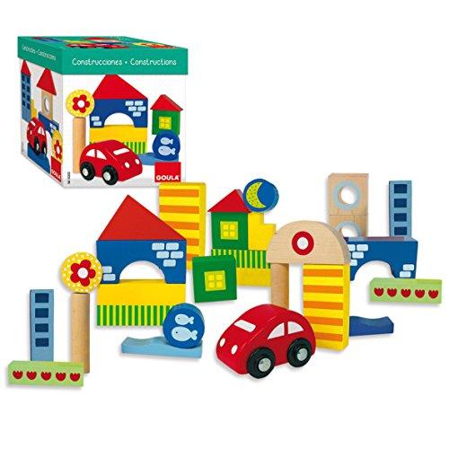 Goula - 50202 - Boîte 25 Bloques Construction + voiture
