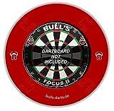 BULL'S Quarterback Dartboard Surround / Catchring / Auffangring / Wandschutz, rot