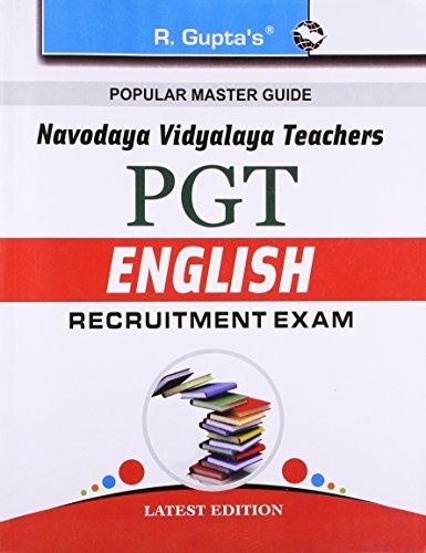 Navodaya Vidyalaya: PGT (English) Recruitment Exam Guide: PGT Recruitment Exam Guide