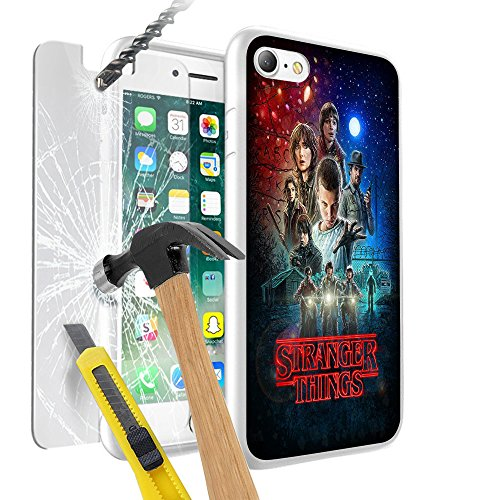 17 Stranger Things Hülle case, Premium Lightweight Cover Skin, Unique Custom Cool Design Protective Hard back Slim Thin Fit PC With Tempered Glass Screen Protector Cover 9H TEMPERED GLASS Anti-Scratch Shatter-Proof Scratch-Resistant Cover for Samsung Galaxy A5 2017 - Stranger Things Sci-Fi Horror TV Show (Tv-halloween-shows 2017)