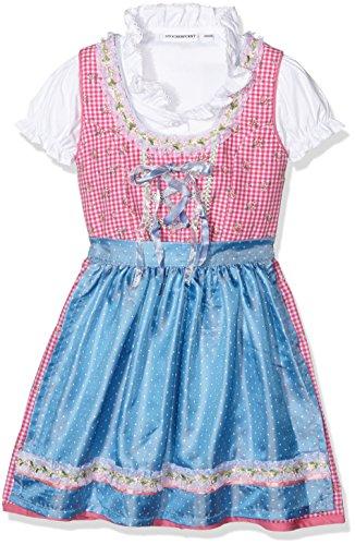 Stockerpoint Mädchen Dirndl Evi, Rosa (Pink), 134 (Herstellergröße: 134-140)