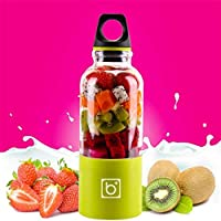 Marlamall Portable Rechargeable USB Blender, Juicer Blender Juice Cup Juice Travel Mini Blender for Fruit, Vegetable, Smoothies, Milkshake 500ml -Green