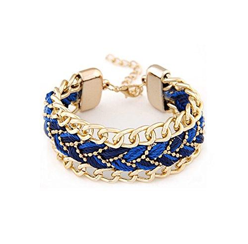 Hosaire Armband Mode Weben Bracelet Hängenden Bangle Schmuck für Freunde,Liebhaber Geburtstag Geschenk,20 x 2.6 cm
