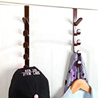 AARIV INTERNATIONAL 5 Level Over Door Hook for Hanging Coat Hangers, Hats, Purses, Backpacks, Purses, Jackets and Other Items. (1 Piece)