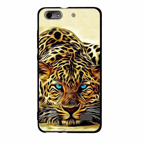 Fubaoda Huawei Honor 4C/G Play Mini Hülle, [Cheetah] 3D zeitgenössischen Chic Design Slim Fit Vollschutz Anti Schock Design Boy Geschenk Minimalist Ultra Thin Lightest für Huawei Honor 4C/G Play Mini