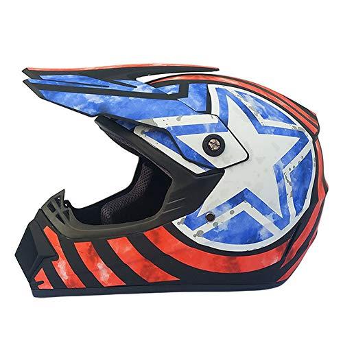 SSYWX Offroad-Helm für Männer und Frauen, Vier-Jahreszeiten-Helm, Motorrad-Vollhelm, Offroad-Rennhelm, S-XL (52-60) (S)