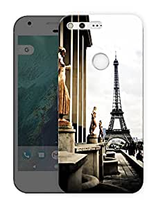 """Humor Gang eiffel tower and statues Printed Designer Mobile Back Cover For """"Google Pixel XL"""" (3D, Matte Finish, Premium Quality, Protective Snap On Slim Hard Phone Case, Multi Color)"""
