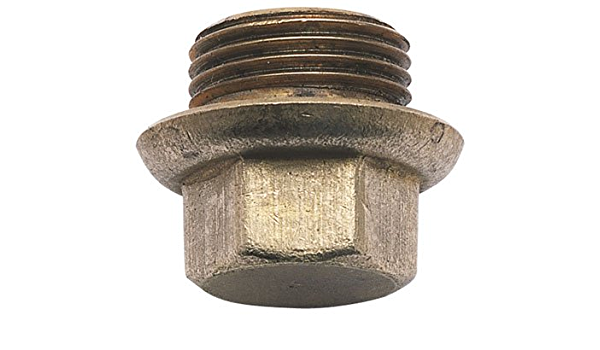 """Brass Imperial Compression Fittings 3//8/"""" BSP FLANGED BRASS BLANK PLUG FBP38"""