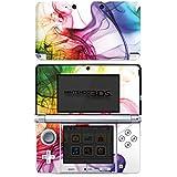 Nintendo 3 DS Case Skin Sticker aus Vinyl-Folie Aufkleber Farben Bunt Nebel
