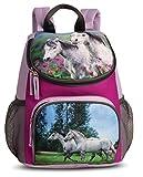 Kinderrucksack Rucksack Pferde mit Netztaschen