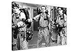 Gerahmter Kunstdruck auf Leinwand Ghost Busters, Schwarz und Weiß, Film-Poster, canvas holz, schwarz / weiß, 03- 20