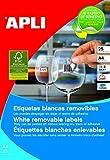 APLI 10197 - Etiquetas blancas imprimibles