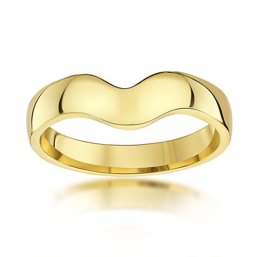 Theia 9 Karat Yellowgold or Whitegold, 3mm Wishbone Ring – Size