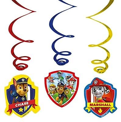 Patrulla Canina - Decorados espirales, pack de 6 unidades (Amscan 999144) de Amscan