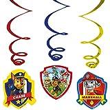 Patrulla Canina - Decorados espirales, pack de 6 unidades (Amscan 999144)