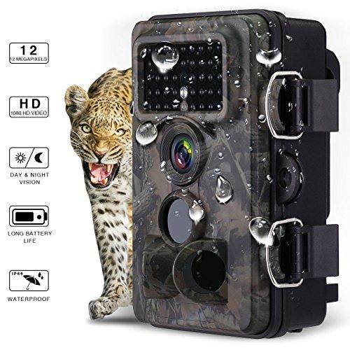Powerextra Cámara de Caza 12MP Full HD 1080P,Angular amplio de...