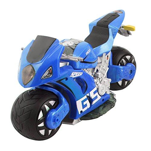 Goplus 4D RC Motorrad Racing Bike Simulation Kinder Spielzeug Fernbedienung Motorcycle Rennmaschine (Blau)
