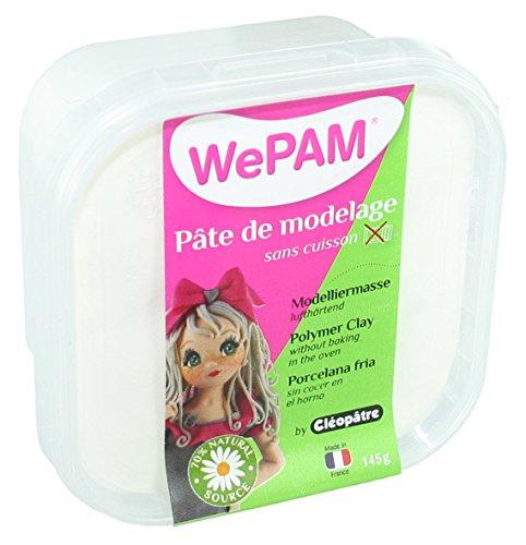 Plast-i-clay Modeling (WePAM - PFWBBB-145 - Lufthärtende Modelliermasse, 145 g, Weiß)