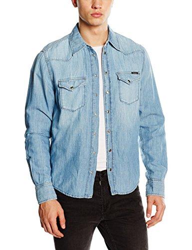Pepe Jeans - Chemise Casual - coupe cintrée - Manches Longues Homme Bleu (Denim)