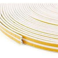 50m 6m Fensterdichtung Selbstklebend Dichtband Weiß 10mm x 6mm   D – PROFIL   Türdichtung Gummidichtung Fensterdichtband Tür Fenster Dichtung Dichtungsband (50m)