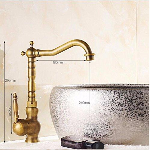 Becken tippen Becken Küchenmixer, warmes und kaltes Wasser Kupfer Einlochmontage