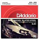 D\'Addario Cordes pour banjo 5 cordes D\'Addario J61, nickel, Light, 10-23