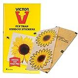Victor Fliegenfalle - Fenster-Aufkleber, 4er-Pack