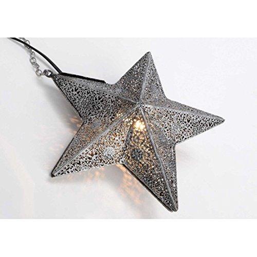 Lampe étoile grise en métal