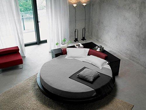 scalabedding 6-Blatt rund 300TC 100% ägyptische Baumwolle für Bett King size-ø 96cm silber massiv -