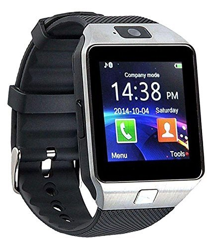 Micromax A115 Canvas 3D {Compatible} Certified Bluetooth Smart Watch DZ M9 Wrist Watch Phone with Camera & SIM Card Support Hot Fashion New Arrival Best Selling Premium Quality Lowest Price with Apps like Facebook, Whatsapp, QQ, WeChat, Twitter, Time Schedule, Read Message or News, Sports, Health, Pedometer, Sedentary Remind & Sleep Monitoring, Better Display, Loud Speaker, Microphone, Touch Screen, Multi-Language, {Compatible} with Android iOS Mobile Tablet PC iPhone by Sontiga  available at amazon for Rs.1299