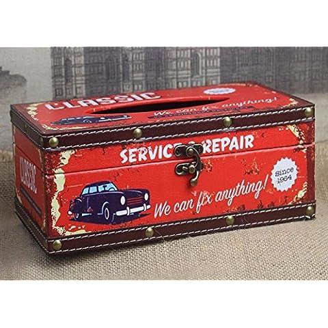 YCG Cuero de alta calidad caja de toallas de papel multifuncional de Cajón caja de humo caja de almacenamiento almacenamiento monedero servilletas caja de pañuelos