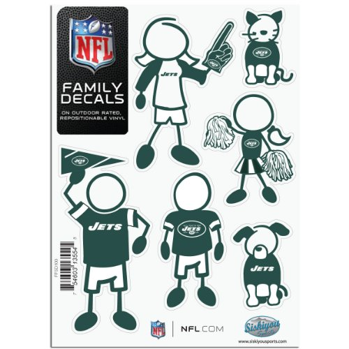 Siskiyou NFL New York Jets Small Family Aufkleber-Set Nfl-magnet-jets