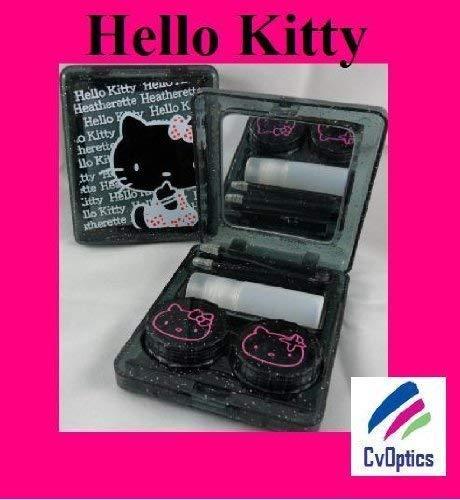 Schwarz Hello Kitty Kontaktlinsen Reiseset