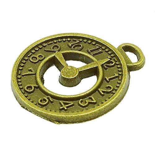 2 pcs laiton antique approvisionnement de bijoux miniature charme pendentif antique pour le cadeau or-10
