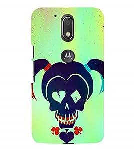 Nextgen Designer Mobile Skin for Motorola Moto M (Skull Playing Cards Ponies Girl FAce Unique)