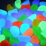 ebuybox® 100 St. Bunt Leuchtsteine Leuchtkiesel leuchtende Kiesel Aquarium Garten Deko 260g