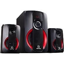 Hiditec - Altavoces H400 - Sistema de sonido 2.1 (Bluetooth 4.1, USB, SD, 40W RMS, Line-In)