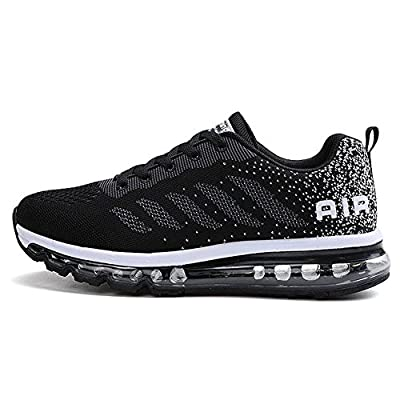 Herren Damen Sportschuhe Laufschuhe mit Luftpolster Turnschuhe Profilsohle Sneakers Trainer Leichte Air Schuhe Unisex 9 Color 34-46 EU