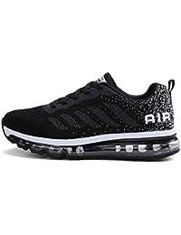 BETY Herren Damen Sportschuhe Laufschuhe mit Luftpolster Turnschuhe Profilsohle Sneakers Leichte Schuhe