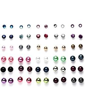 onnea Multi Paar Disc Ball Ohrringe-Set für Mädchen, hypoallergen