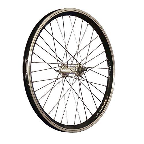 Taylor-Wheels 20 Zoll Vorderrad Grünert Dynamic4 Aluminiumnabe Vollachse Schwarz
