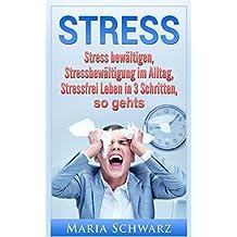 Stress: Stress bewältigen, Stressbewältigung im Alltag,Stressfrei Leben in 3 Schritten, so geht's