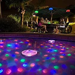 Luz lampara brillante LED flotante y impermeable 5 tipos de colores cambiantes bombillas de iluminación para discoteca, fiesta, piscina, bañera, estanque, sap, jacuzzi