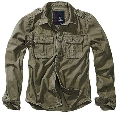 Brandit Vintage Shirt Longsleeve Oliv 6XL