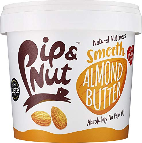 Pip & Nut Smooth Almond Butter - 1kg - Absolutely No Palm Oil - No Added Sugar - Natural Source Of Protein and Healthy Fats