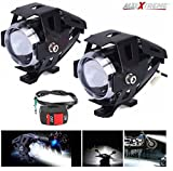 #3: AllExtreme U5 CREE LED Driving Fog Light Fog in Aluminum Body for All Motorcycles, ATV and Bikes with Switch (15W, Pack of 2)
