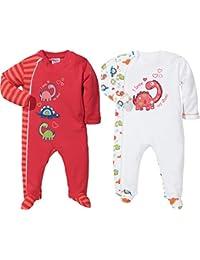 Baby Butt Schlafanzug 2er-Pack mit Druckmotiv Dino
