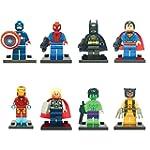 8 x iTec® Set of Marvel DC Minifigure...